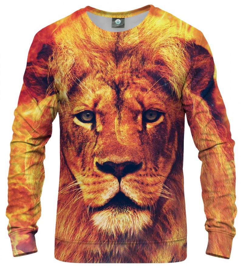 pomarańczowa bluza z motywem lwa