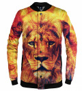 orange baseball jacket with lion