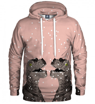 pink hoodie with dinosaurs