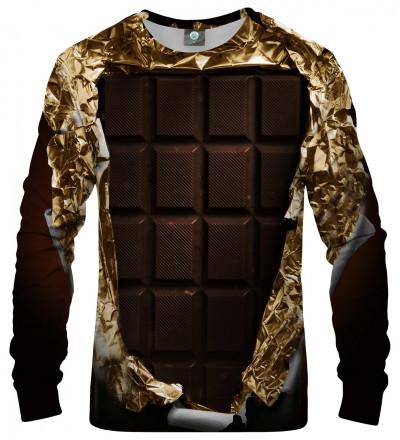 brown sweatshirt with chocolate motive