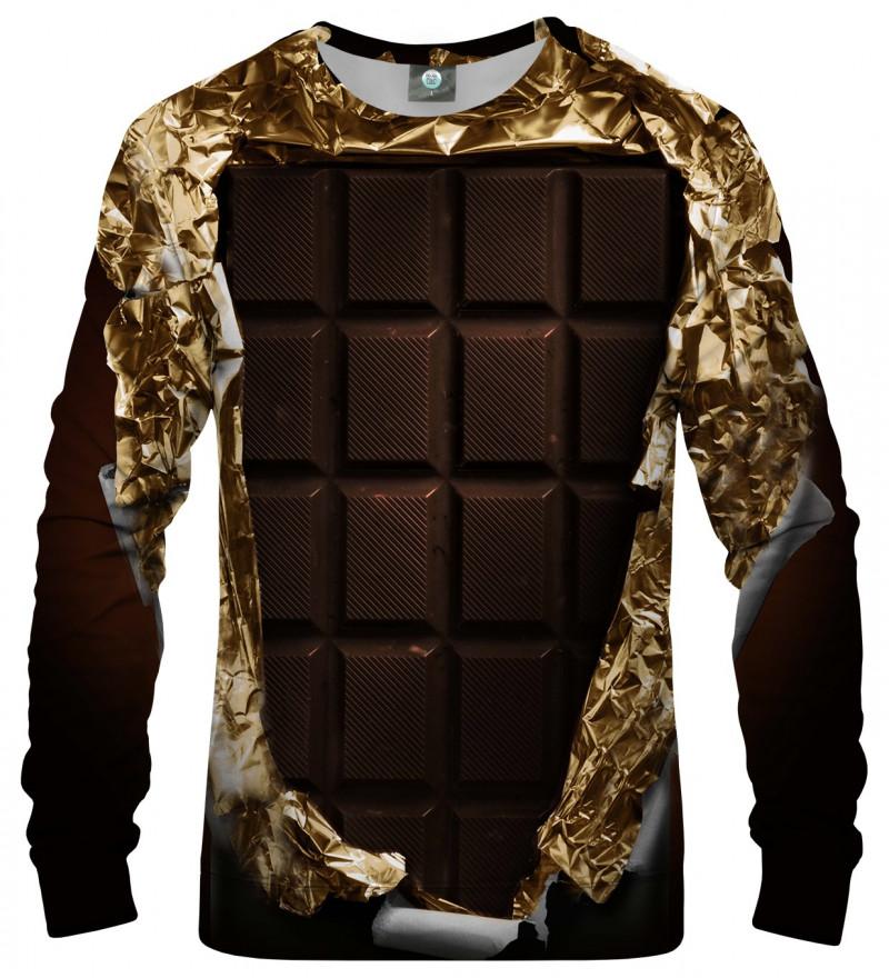 brązowa bluza z motywem czekolady