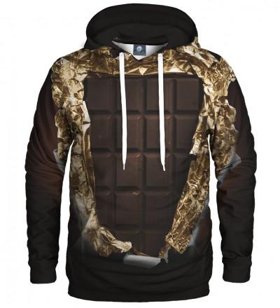 brown hoodie with chocolate motive