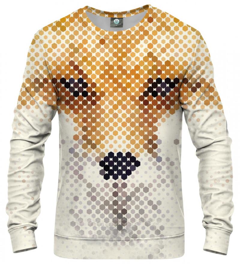 sweatshirt with fox face motive