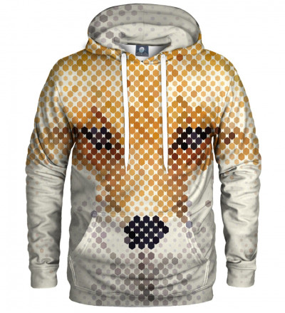 hoodie with fox face motive