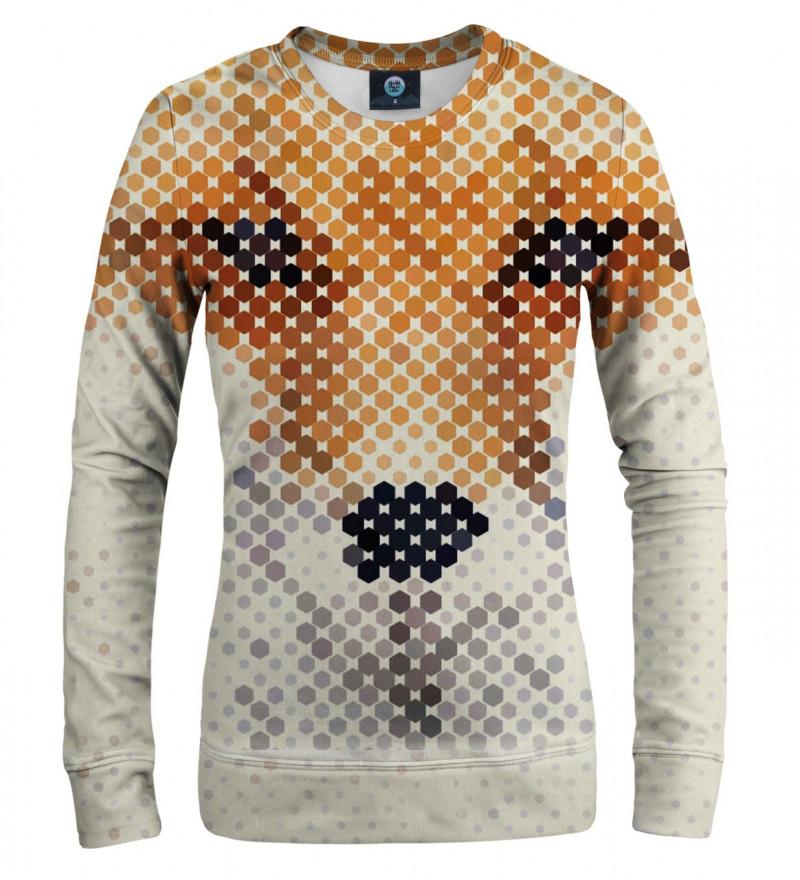bluza z motywem twarzy lisa