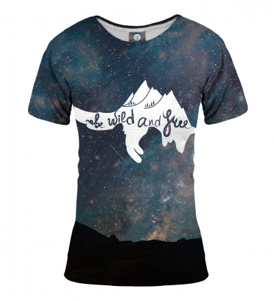 tshirt with stars motive and wild and free inscription