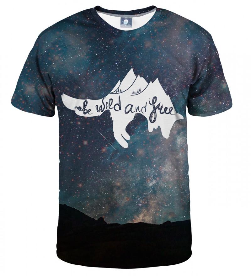 koszulka z motywem gwiazd i napisem wild and free