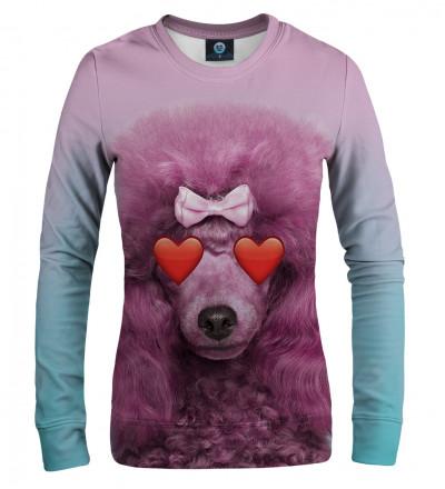 pink sweatshirt with puddle motive