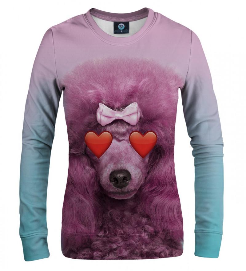 różowa bluza z motywem pudla