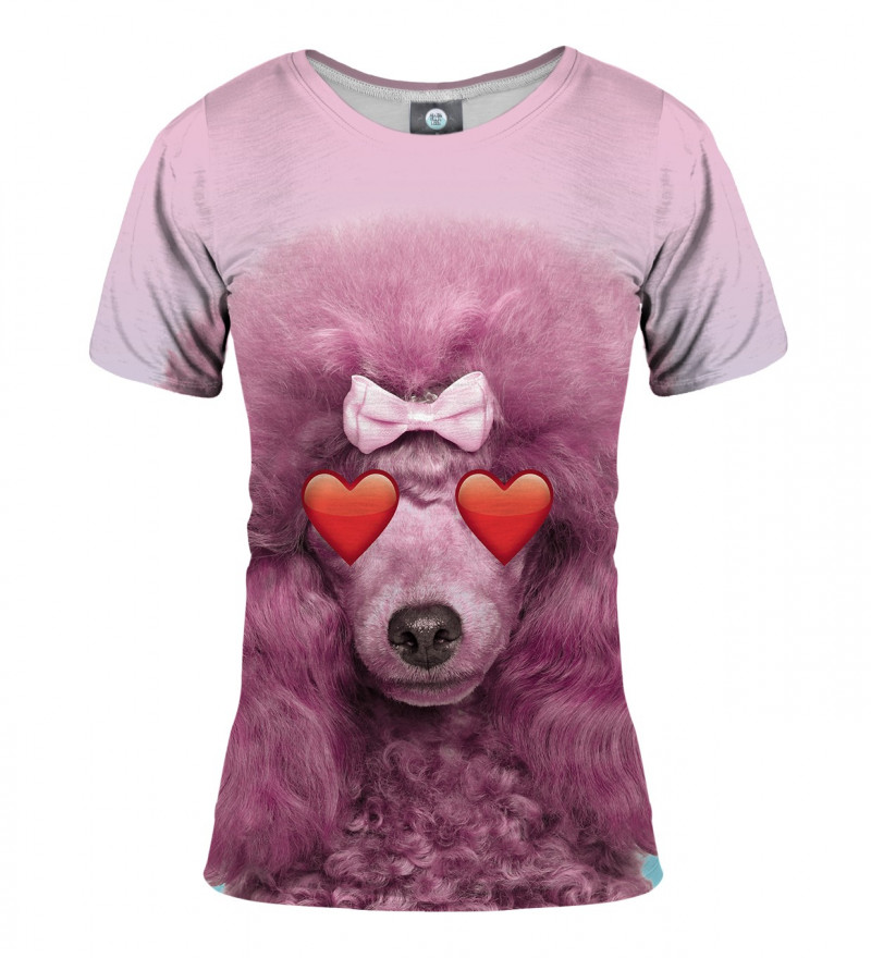 pink tshirt with puddle motive
