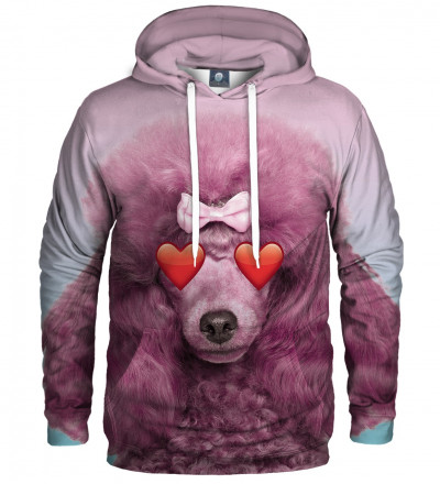 pink hoodie with puddle motive
