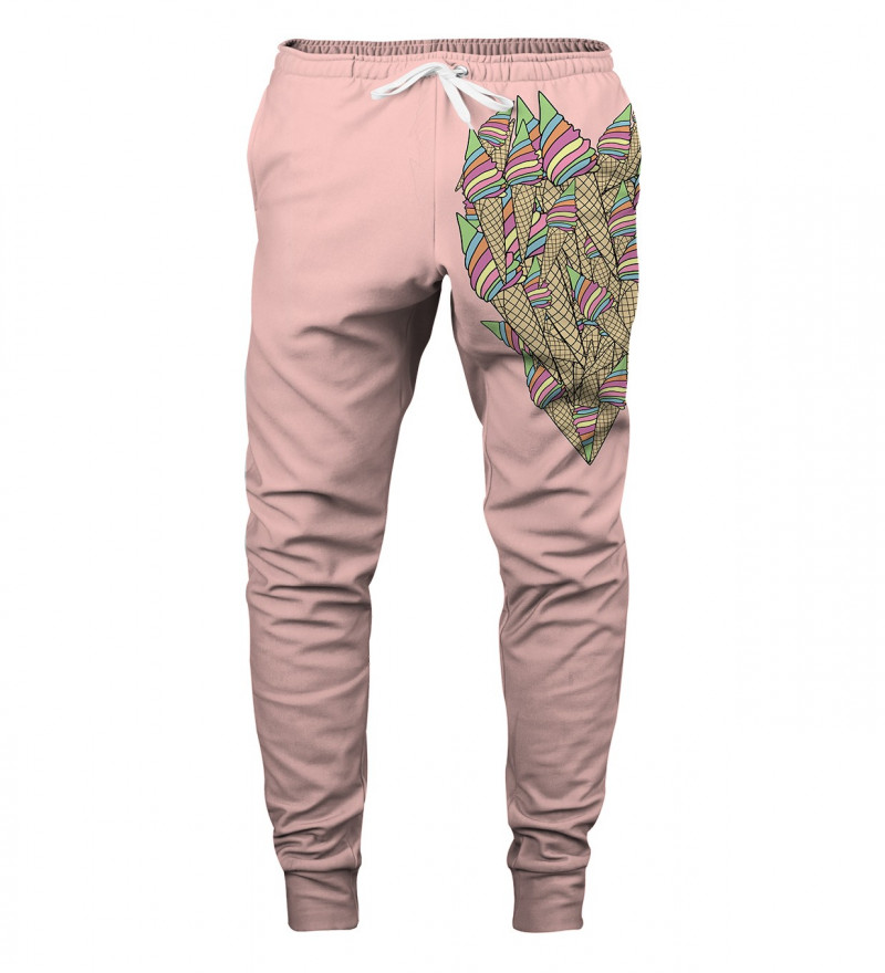 pink sweatpants with ice-cream heart