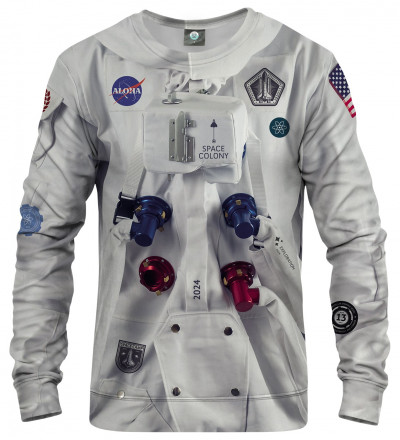 sweatshirt with space station motive