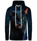 Bluza damska z kapturem Black cat