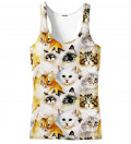 top with cat heads motive