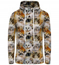 hoodie with cat heads motive