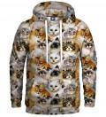 Bluza z kapturem Cat heads