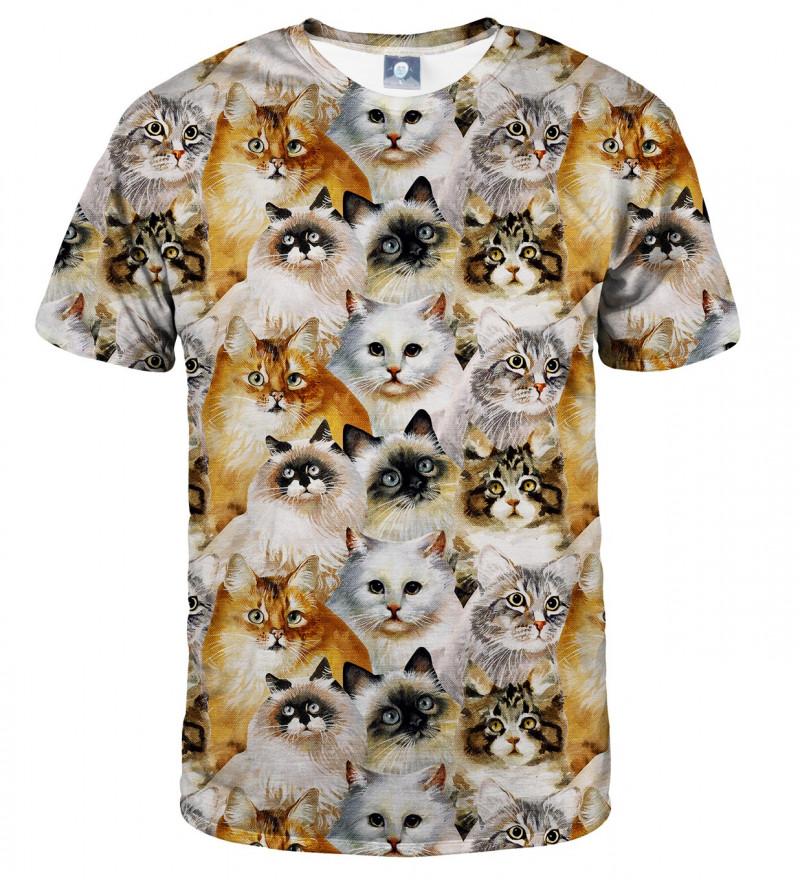 koszulka z motywem głów kotów