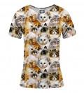 T-shirt damski Cat heads