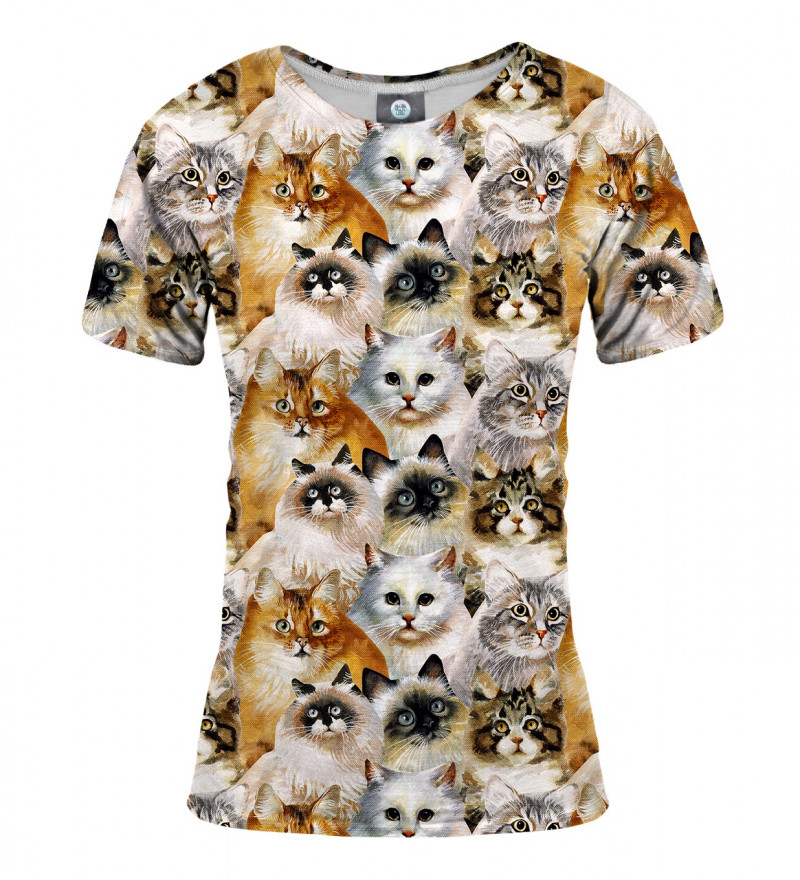 tshirt with cat heads motive
