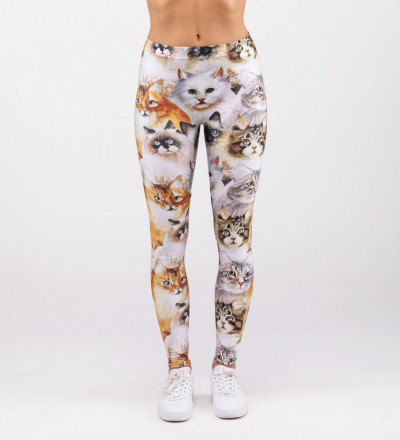 leggings with cat heads motive