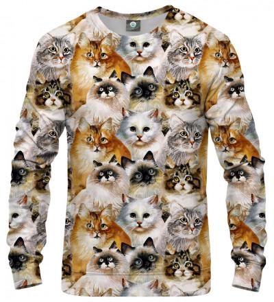 bluza  z motywem głów kotów