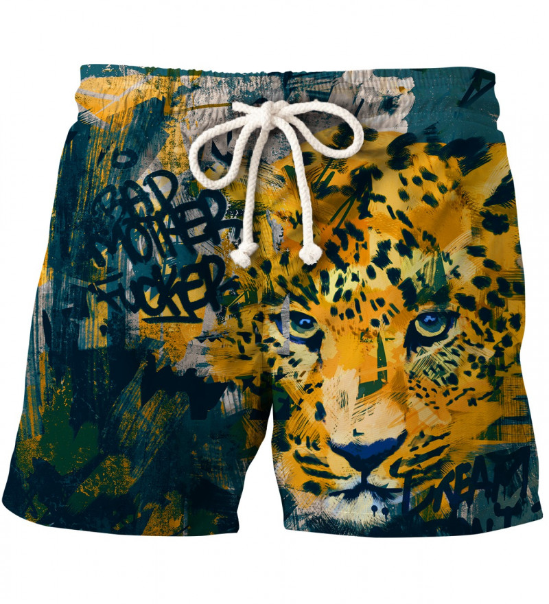 shorts with leopard motive