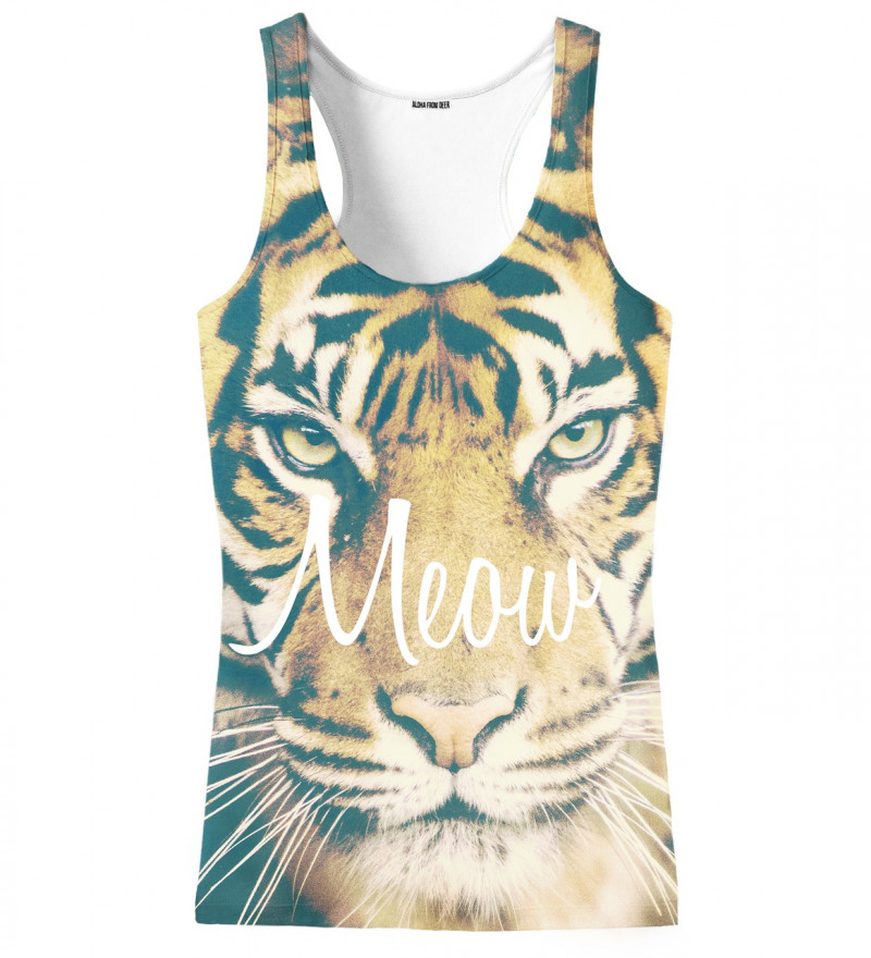 tank top with tiger motive