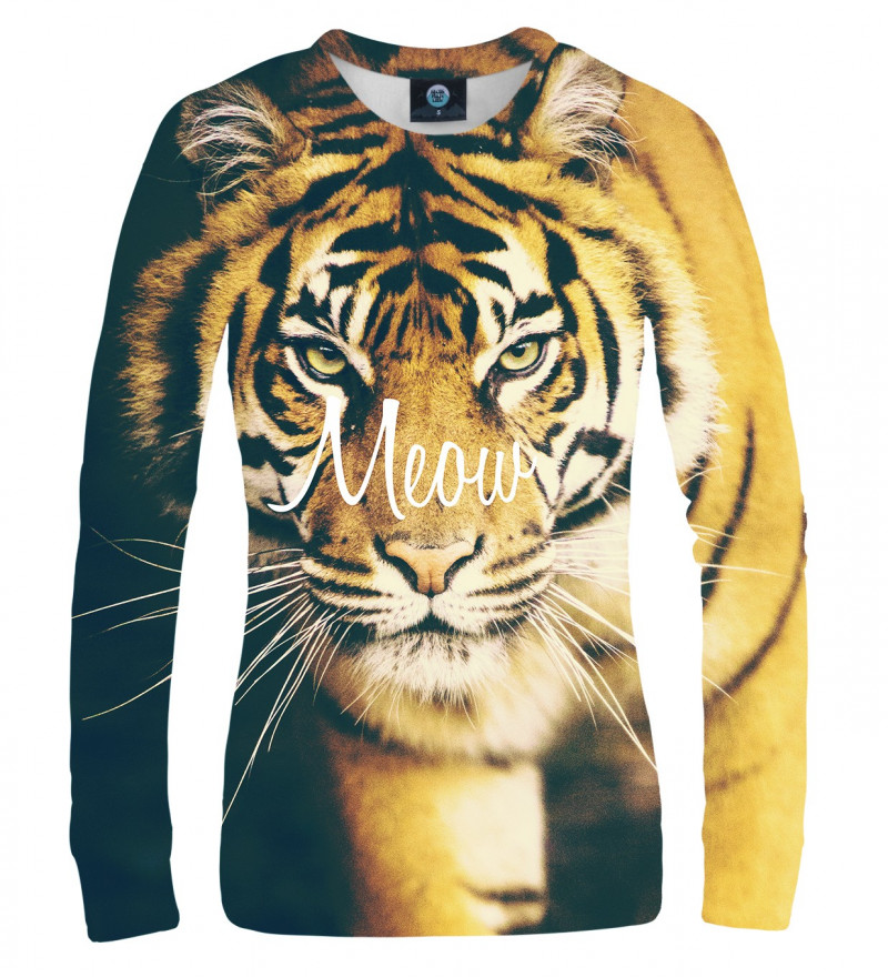 sweatshirt with tiger motive