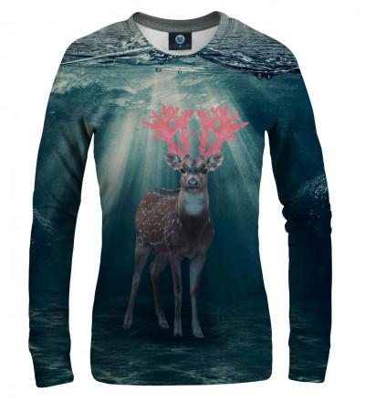 bluza z motywem jelenia w wodzie