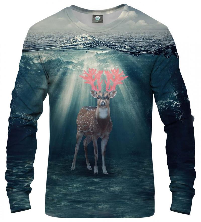 sweatshirt with deer on the water