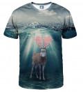 koszulka z motywem jelenia w wodzie