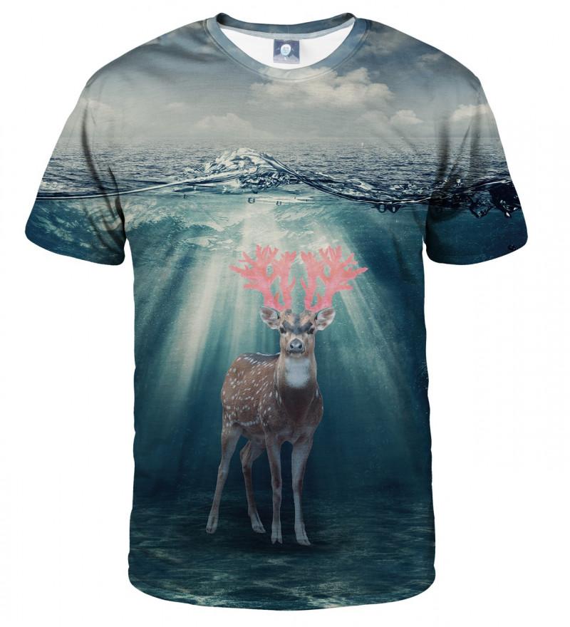 sweatshirt with deer on water