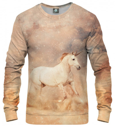 sweatshirt with unicorn motive