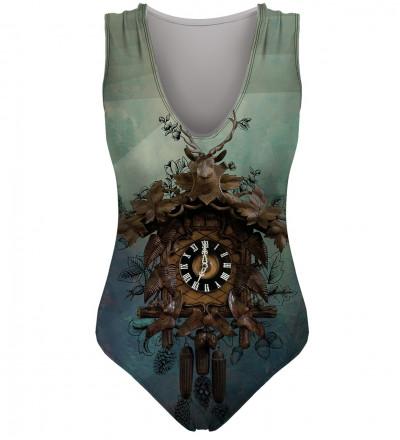strój kąpielowy z motywem zegara