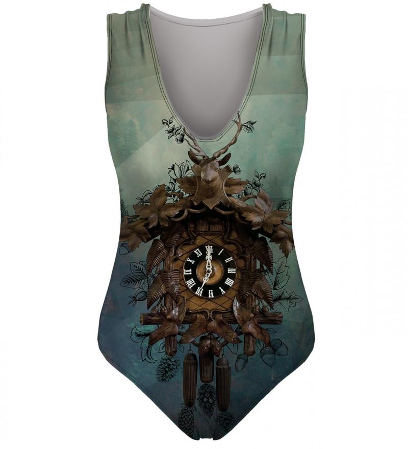 swimwear with clocks motive