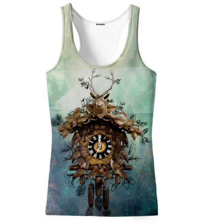 tank top with clocks motive