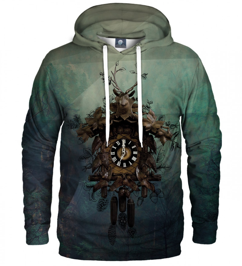 hoodie with clocks motive