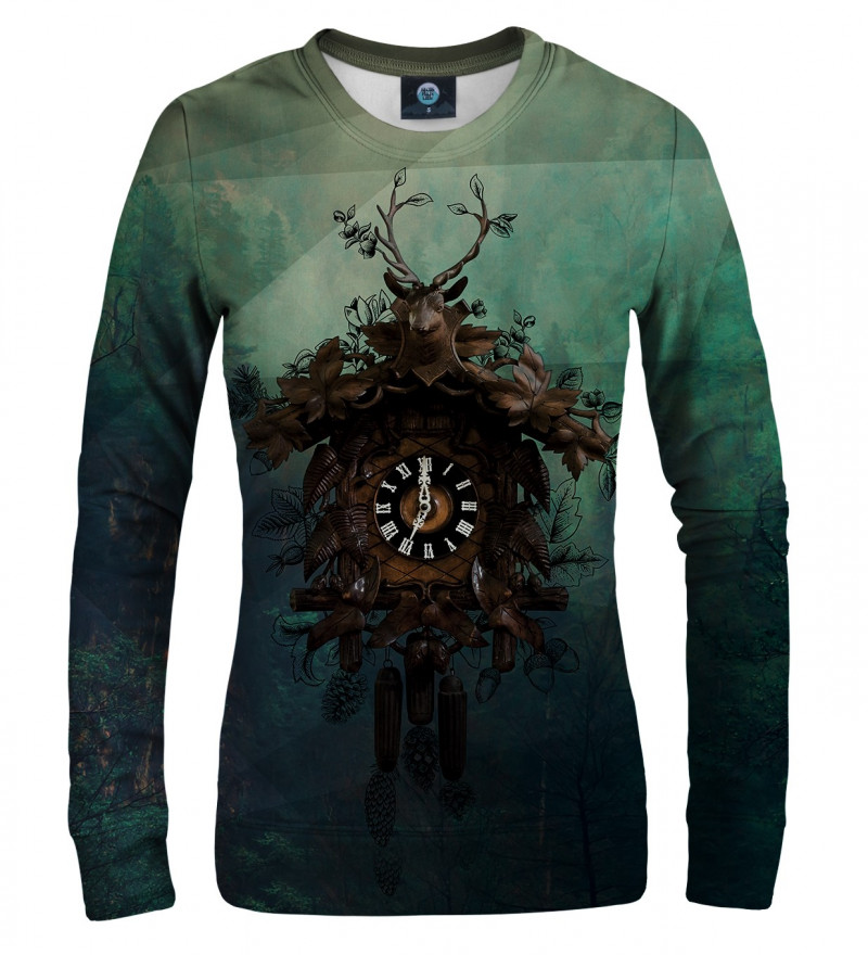 sweatshirt with clocks motive