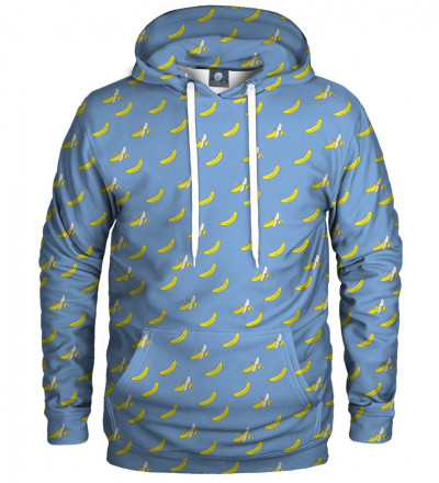 blue hoodie with banan motive
