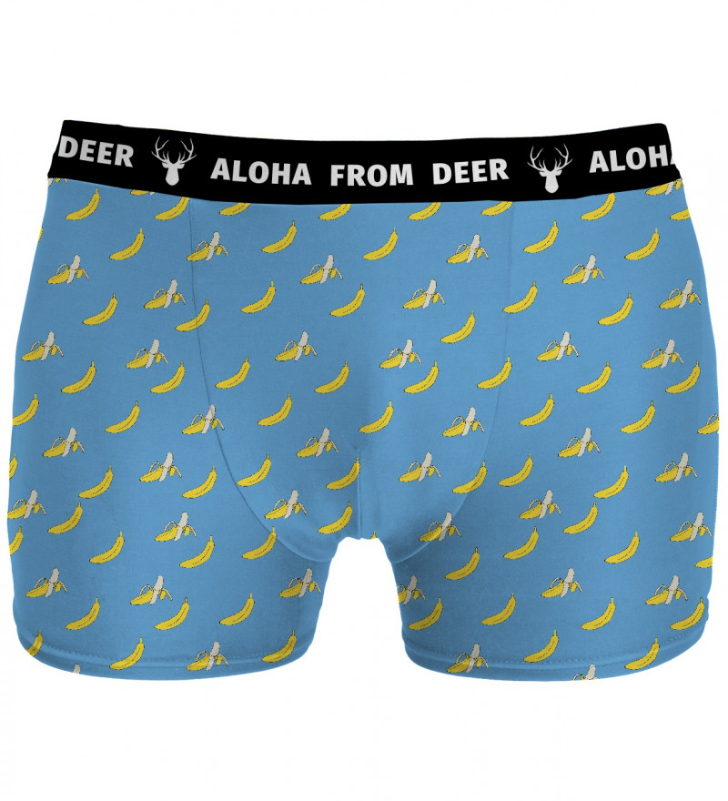 blue underwear with banana motive