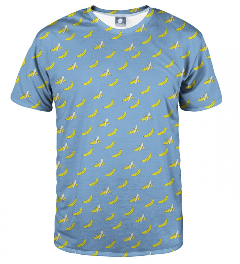 niebieska bluza z motywem bananów