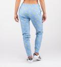 blue sweatpants with banana motive