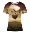 tshirt with tree heart motive