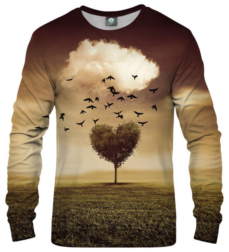 sweatshirt wit tree heart motive