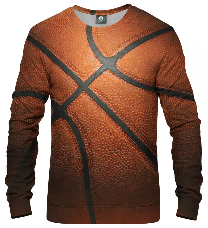 sweatshirt with basketball ball motive