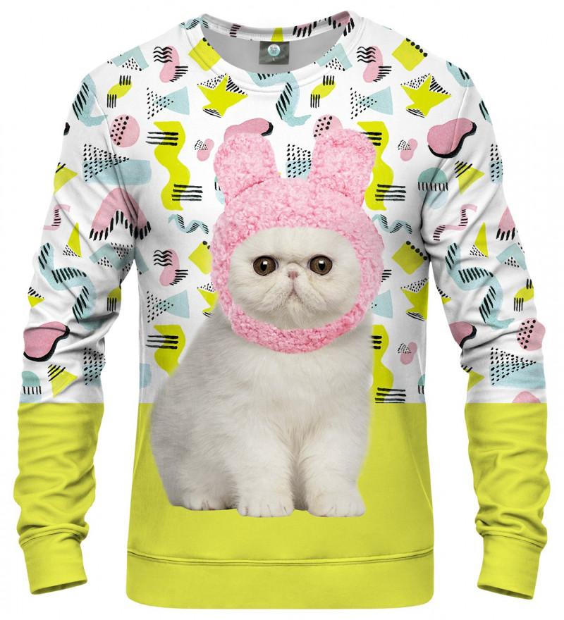 sweatshirt with kitty motive