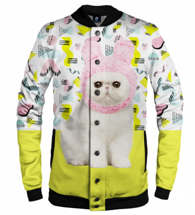 baseball jacket with kitty motive