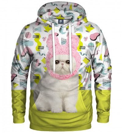 hoodie with kitty motive