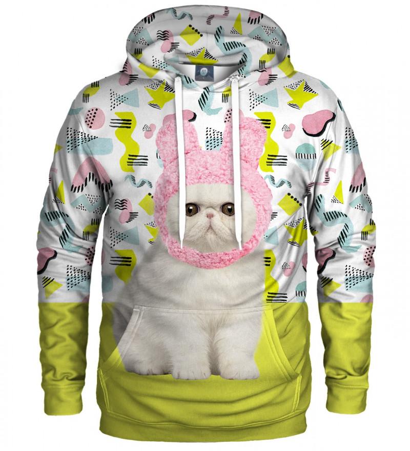 bluza z kapturem z motywem kota